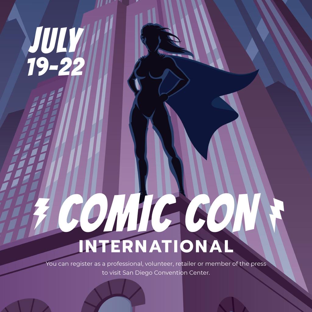 Comic Con International event Announcement — Crear un diseño