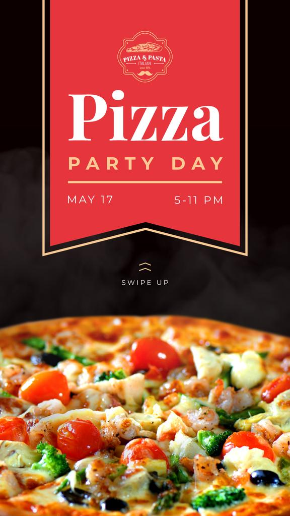 Pizza Party Day Ad — Modelo de projeto