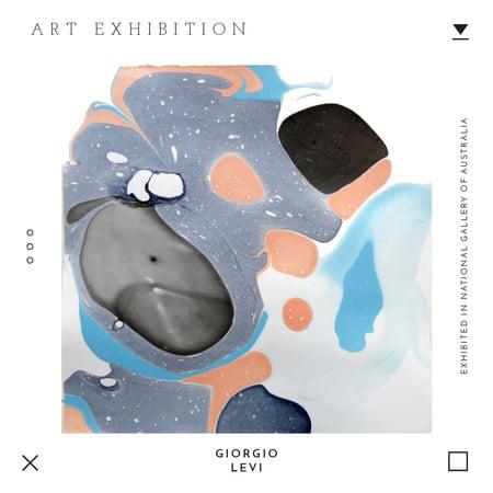 Modèle de visuel Art exhibition Ad with Texture blots - Instagram