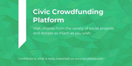 Ontwerpsjabloon van Image van Civic Crowdfunding Platform