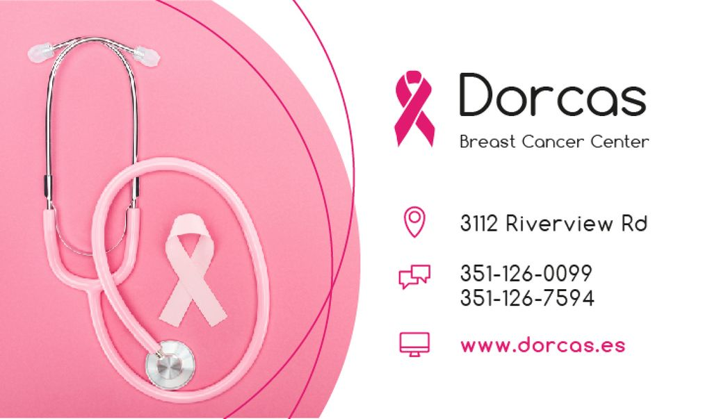 Breast Cancer Center Pink Ribbon — Create a Design