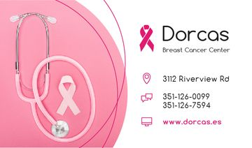 Breast Cancer Center with Pink Ribbon