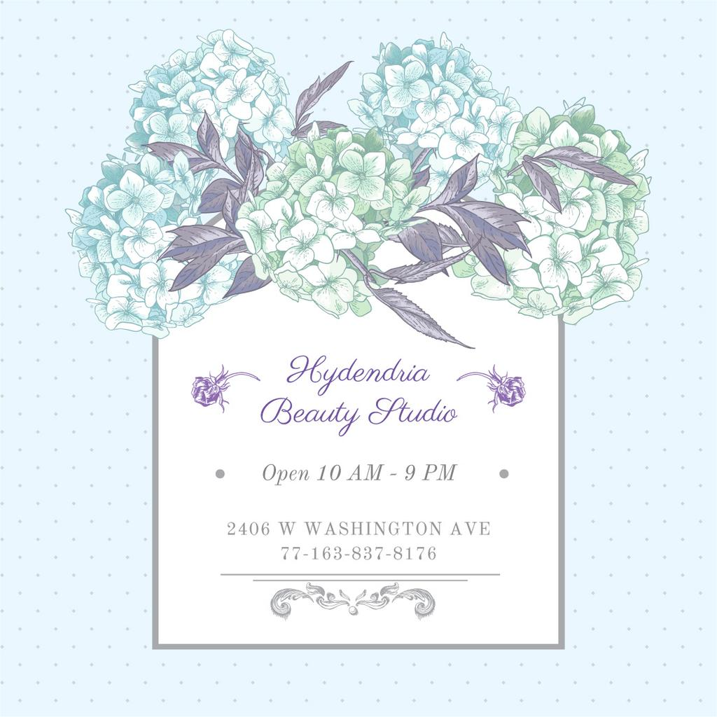 Hydrangea beauty studio advertisement —デザインを作成する