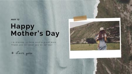 Template di design Mom carrying Child on Mother's Day Full HD video