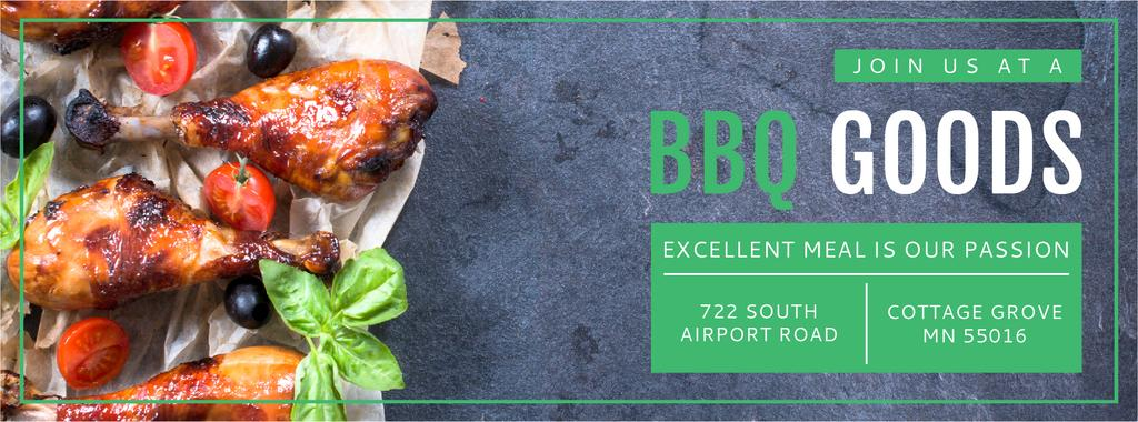 BBQ Food Offer Grilled Chicken | Facebook Cover Template — Create a Design