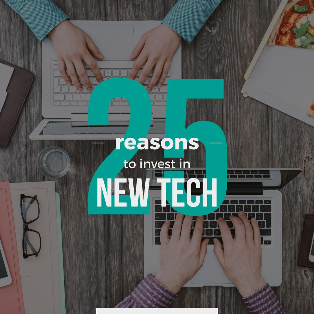 Reasons to invest in new tech poster — ein Design erstellen
