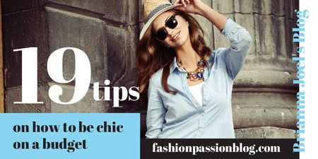Ontwerpsjabloon van Twitter van Blog Promotion with Stylish Woman in Sunglasses