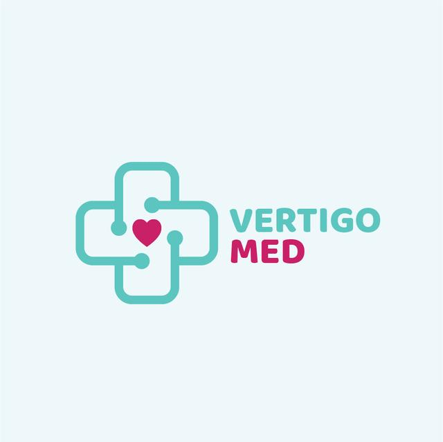Medical Services with Heart in Cross Logo – шаблон для дизайна