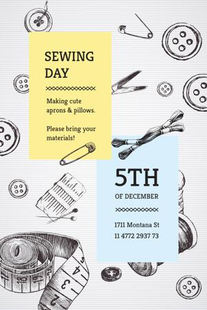 Designvorlage Sewing day event für Pinterest