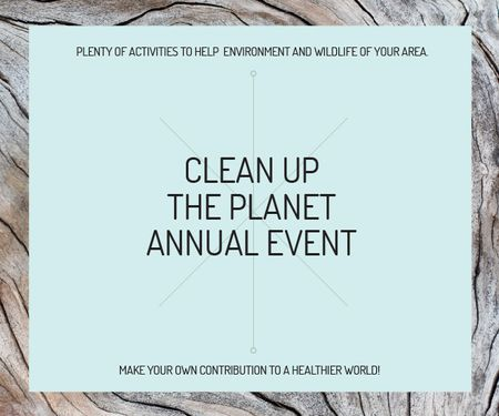 Template di design Clean up the Planet Annual event Medium Rectangle
