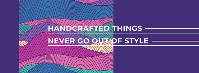 Citation about Handcrafted things Facebook cover Modelo de Design