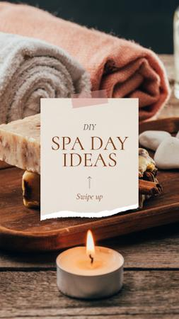Plantilla de diseño de Spa Salon Offer Skincare Products and Soap Instagram Story