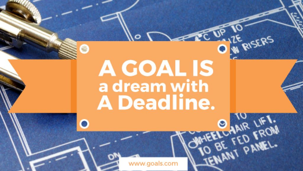 Goal motivational quote poster — Crea un design
