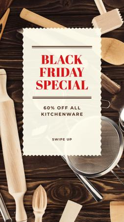 Template di design Black Friday Offer Kitchenware Sale Instagram Story