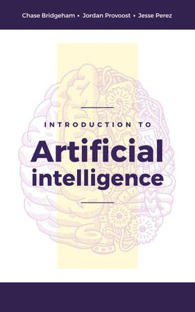 Artificial Intelligence Concept Brain Model Book Cover – шаблон для дизайну