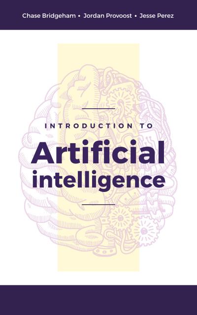 Artificial Intelligence Concept Brain Model Book Cover – шаблон для дизайна