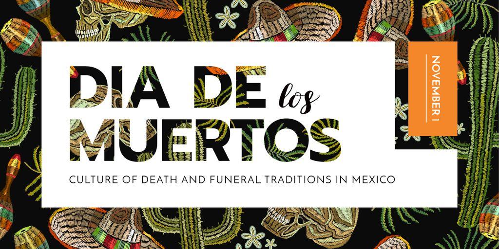 Dia de los muertos pattern — Crear un diseño