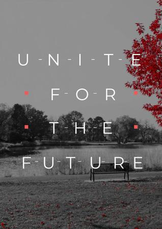Concept of Unite for the future Poster Design Template