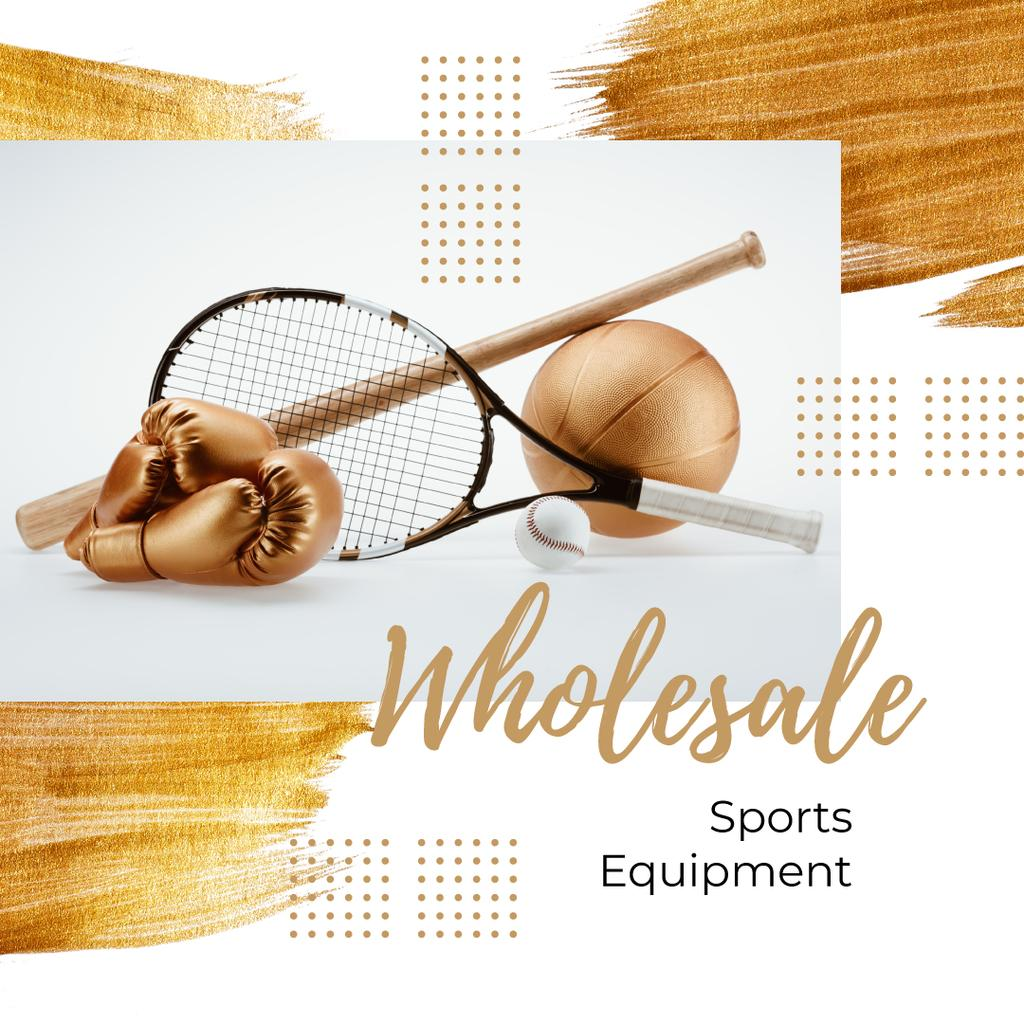 Sports and Games Equipment Sale in Golden | Instagram Ad Template — Créer un visuel