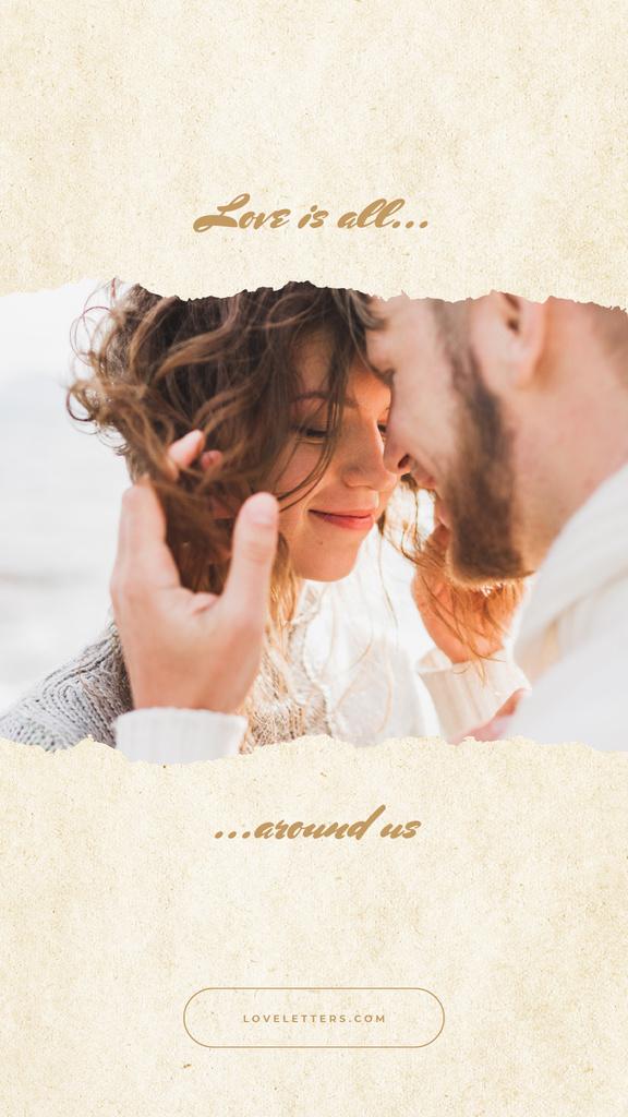 Valentines Day Card with Tender Couple — ein Design erstellen