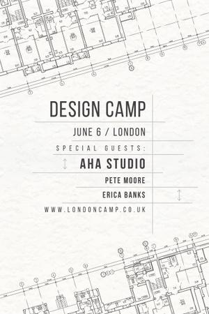 Design camp in London Pinterest – шаблон для дизайну