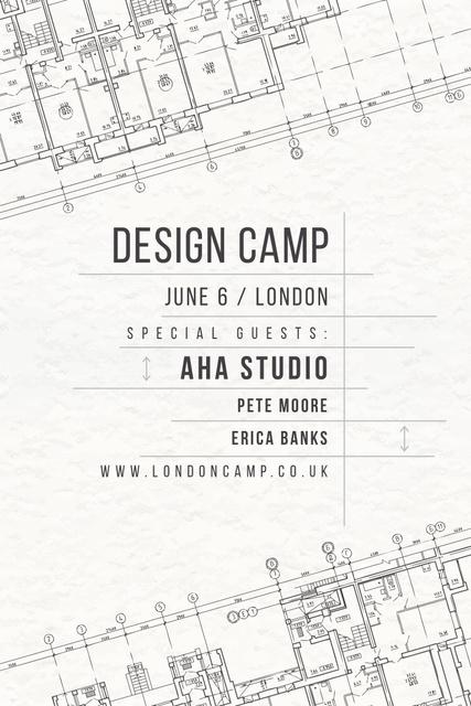 Ontwerpsjabloon van Pinterest van Design camp in London