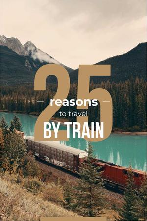 Modèle de visuel Train travel advantages - Pinterest