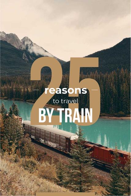 Szablon projektu Train travel advantages Pinterest