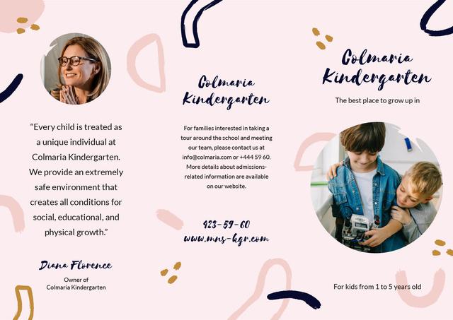 Template di design Kindergarten Ad Brochure with Kids playing on Floor Brochure
