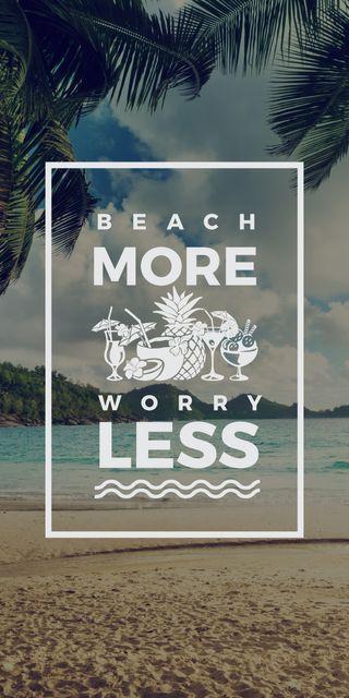 Plantilla de diseño de Summer Trip Inspiration Palm Trees by Sea Graphic