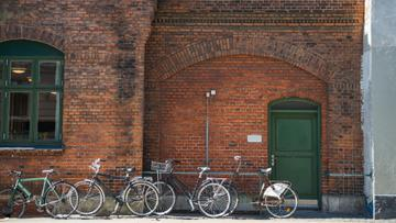 Authentic building with bicycle parking