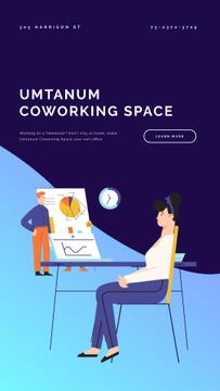 Creative Colleagues in Coworking | Vertical Video Template
