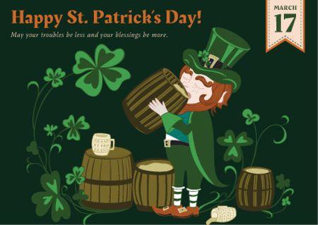 Ontwerpsjabloon van Postcard van St. Patrick's day greeting card