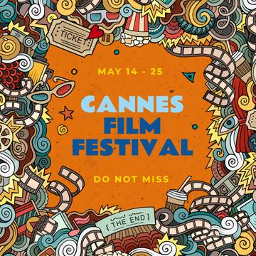 Cannes Film Festival Announcement with Movie attributes