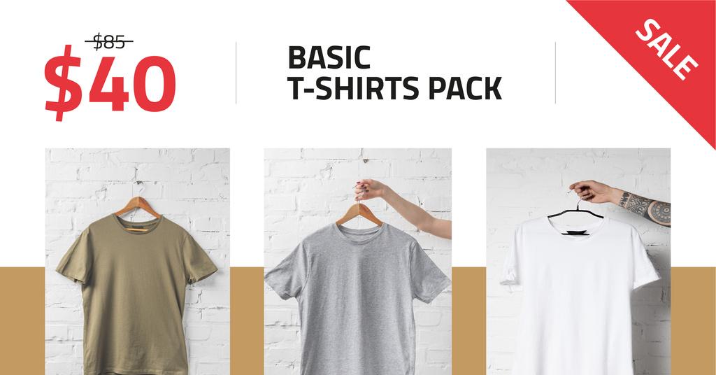 Clothes Store Sale Basic T-shirts — Modelo de projeto