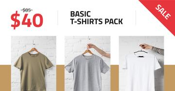 Clothes Store Sale Basic T-shirts
