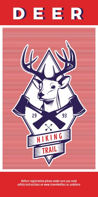 Hiking trail advertisement with deer Graphic – шаблон для дизайну
