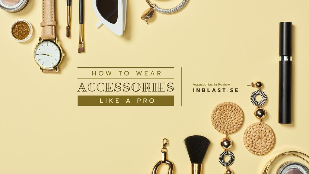 Accessories Guide with Fashion Outfit Composition — Crear un diseño