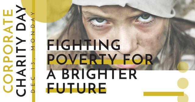 Ontwerpsjabloon van Facebook AD van Corporate Charity Day Announcement