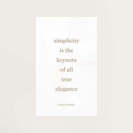 Modèle de visuel Elegance quote in white frame - Instagram