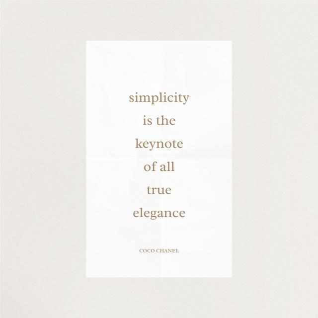 Elegance quote in white frame Instagram Modelo de Design