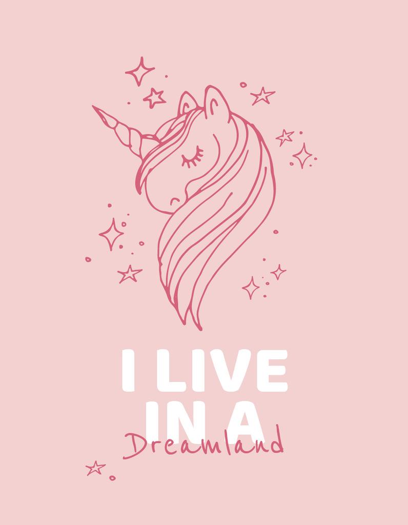 Childhood Dreams inspiration with Unicorn — Crear un diseño