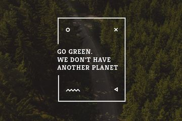 Citation about green planet
