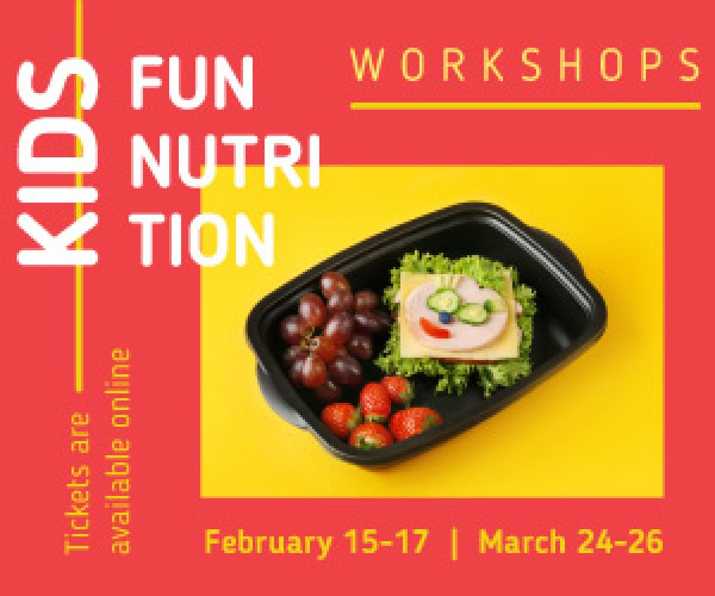 Nutrition Event Announcement Healthy School Lunch | Medium Rectangle Template — Создать дизайн