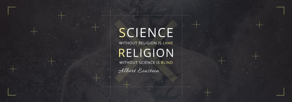 Citation about science and religion — ein Design erstellen