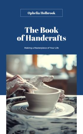 Ontwerpsjabloon van Book Cover van Hands of Potter Creating Bowl