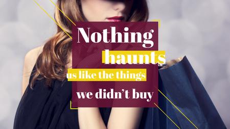 Ontwerpsjabloon van Youtube van Quotation about shopping haunts