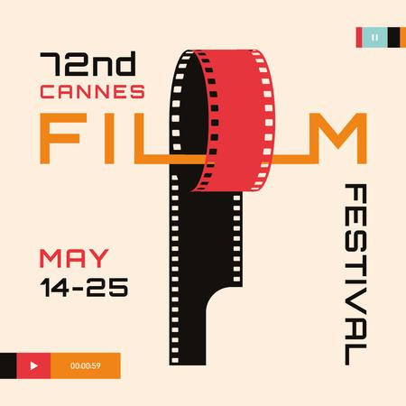 Plantilla de diseño de Cannes Film Festival with Film winding Instagram