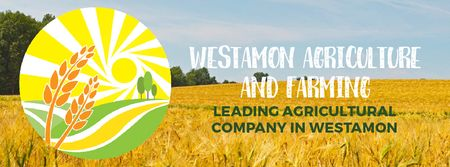 Plantilla de diseño de Golden agricultural field  Facebook Video cover