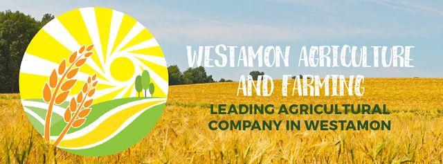 Plantilla de diseño de Golden agricultural field  Facebook Video cover